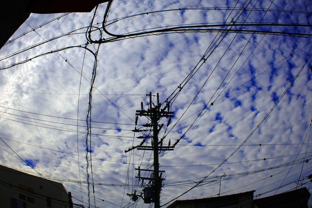 電線_一乗寺ラーメン街道